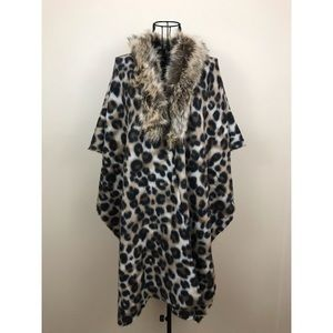 Jackets & Blazers - Faux Fur Kimono